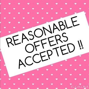 Most reasonable offers accepted!!!